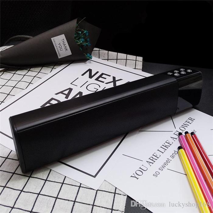 Yeni Ucuz 10 W Kablosuz Bluetooth Hoparlörler Taşınabilir Stereo Ses LCD Ekran Dijital Ekran Desteği TF USB Mp3 Müzik Çalar Ile DHL Ücretsiz