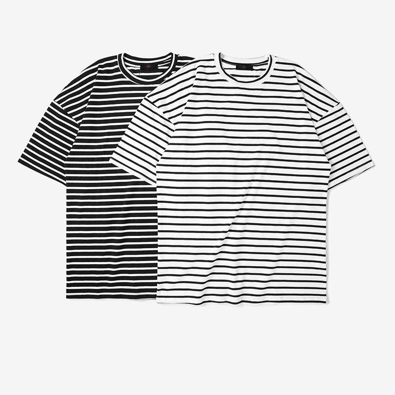 New Style Summer T Shirt Mens Streetwear Oversize Stripe T Shirt ...