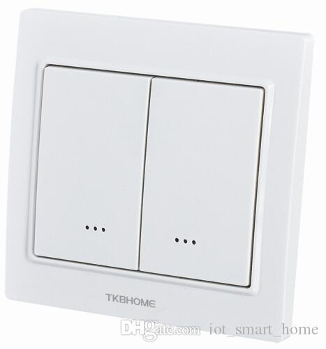 TKBHOME 2nd Generation hot Z-Wave dual paddle switch TZ56D EU 868.42MHz for lighting remote control