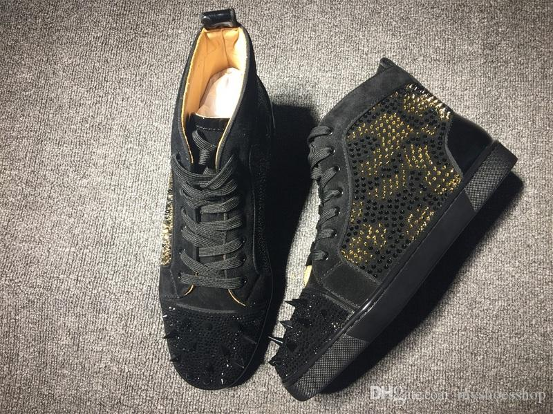 promo code db1b8 ef750 Brand Spikes Shoes Men Sneakers Red Bottom Black Gold Spike,Original 100%  Quality France Luxury Red Sole Men Shoes Shoes Uk Pumps Shoes From  Myshoesshop, ...