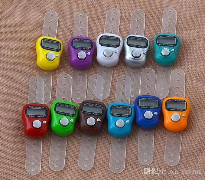 DHL Mini Hand Hold Band Tally Counter LCD Digital Screen Finger Ring Electronic Head Count Tasbeeh Tasbih