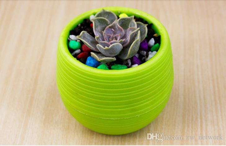 2017 NEW Planter Pots Recycled Plastic Pots Perfect for Succulents Strong, Reusable Plant Flower Herb Bed Pot