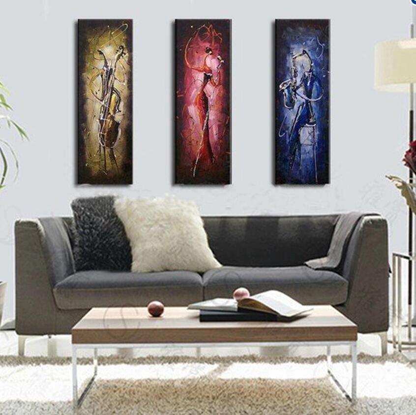 Bella astratta moderna dipinta a mano della pittura a olio la decorazione domestica Pittura MusicMan