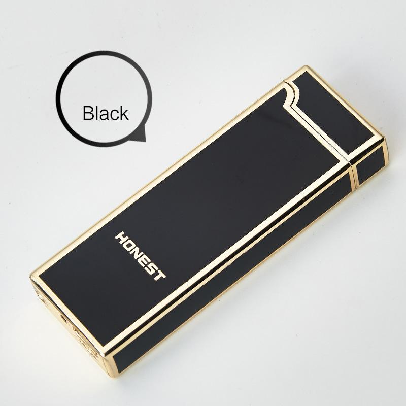 HONEST Creative personality metal lighter USB lighter windproof Arc lighter for man woman with gift box