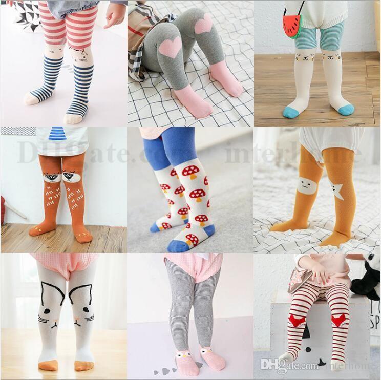 c76ce86153d Baby Cartoon Pantyhose Fashion Panty-hose Girl Cotton Leggings Animal Print  Stockings Stripe Tights Dancewear Pants Trousers Underpants 1790