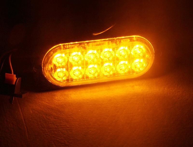 12led danger 12W suv truck with led chips dc 12-24V yellow car vehicle lights Width warning lamp engineering vehicle Ultra-thin Car police ligh Truck Emergency Warning light Flash Strobe Light Bar car-styling (1 (5)