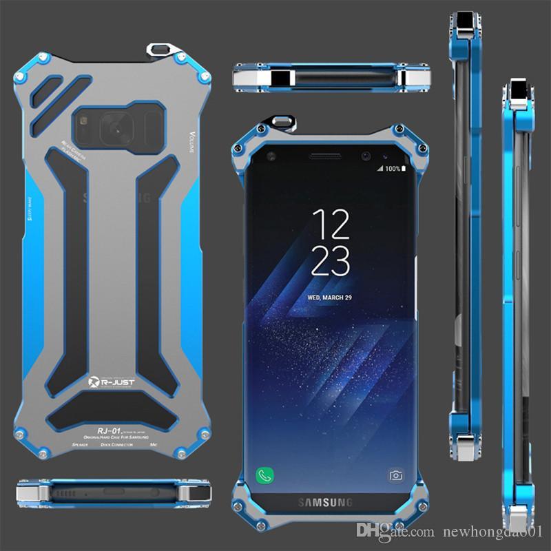 Gundam Ince metal alüminyum Darbeye Kapak kılıf samsung galaxy S8 açık Zırh anti-vurmak telefon kılıfları S8 artı