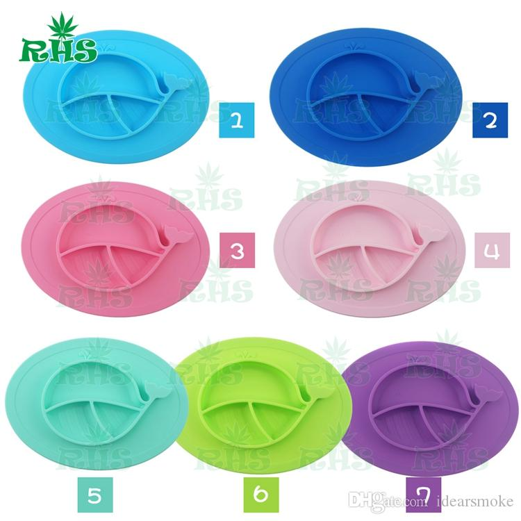 Whale shape mat 100% Food grade silicone baby placemat Cheap silicone placemat and plate baby plate set with wholesale S-03
