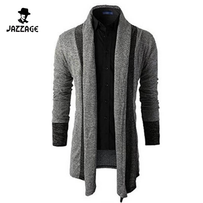 2018 2016 Mens Sweater Long Sleeve Cardigan Male Autumn Knitted ...