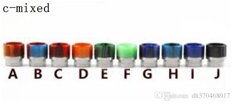 ASD0010 Gros résine époxy en acier inoxydable + pointe de goutte à goutte en pierre ewelry TFV8TFV12 pointe à goutte, 510 points de goutte à goutte pénis