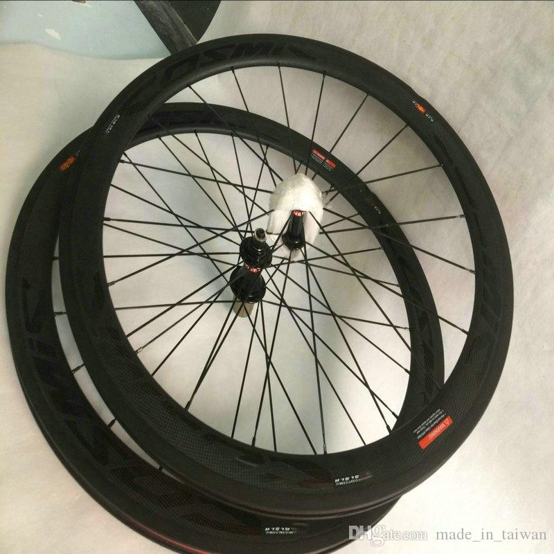 Made in China 50mm full carbon bicycle wheels carbon in bike R glue 23mm width V brake road bike wheels with powerway hubs