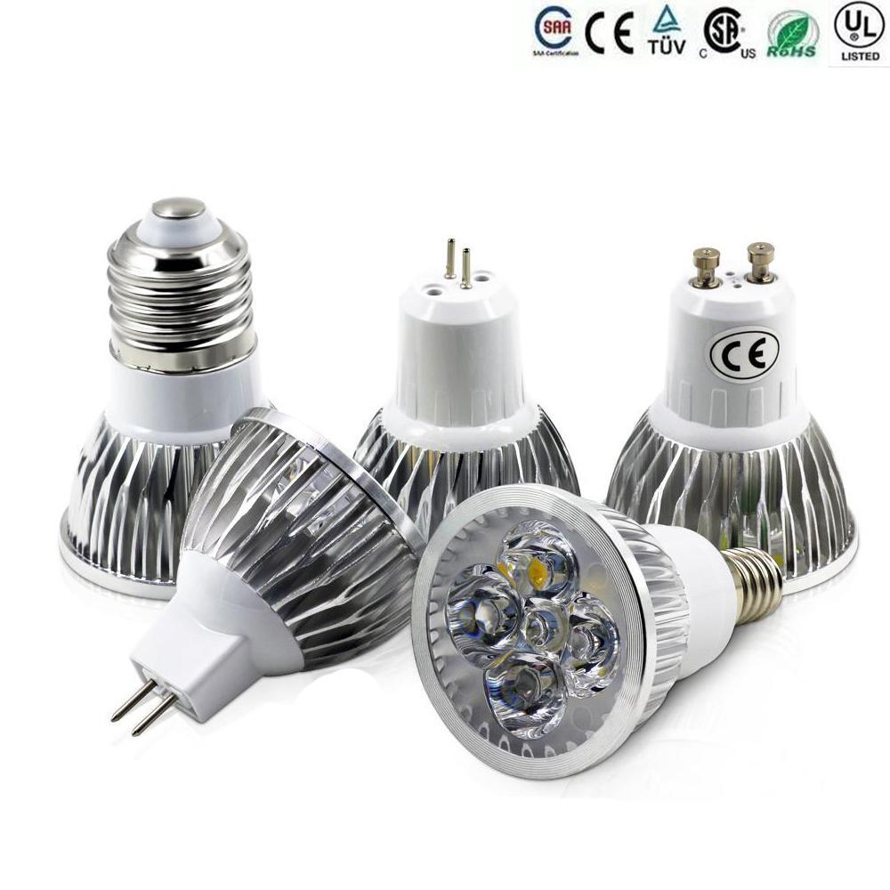 Best High Power Cree Led Light Bulbs E27 B22 Mr16 9w 12w 15w Dimmable E14  Gu5.3 Gu10 Led Spot Lights Led Downlight Lamps Brightest Led Bulb Outdoor  Led ...