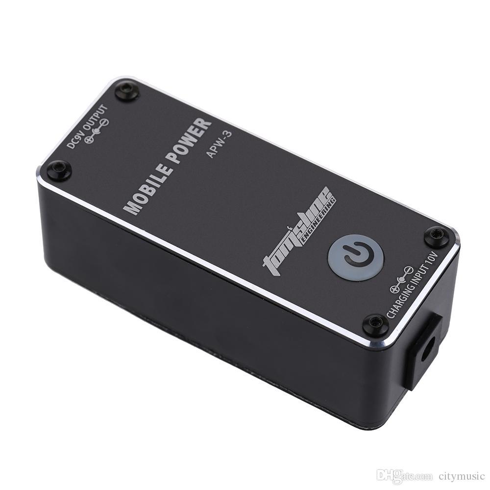 Aroma APW-3 Şarjlı 9 V 0.5A Gitar Efektleri için LED Mobil Güç Kaynağı Yüksek Kalite Taşınabilir Efektler Güç Kaynağı