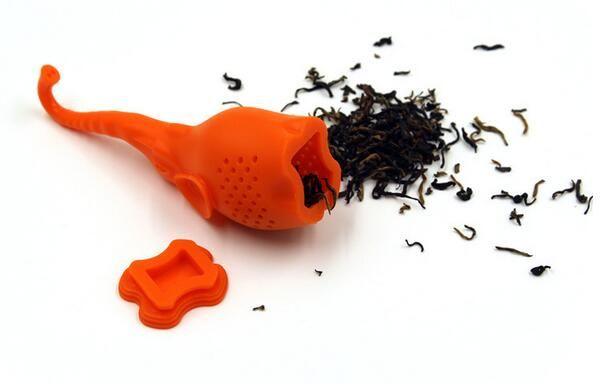 다이닝 바 티포트 귀여운 코끼리 실리콘 차 주입기 필터 차주 전자 커피 Drinkware에 대한
