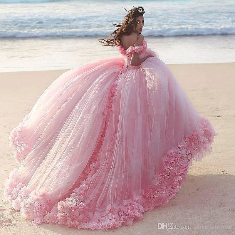 Pink Puffy Ball Gowns