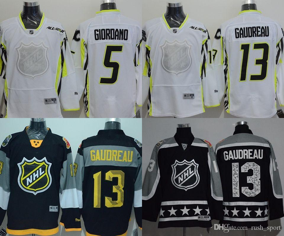 2017 calgary flames nhl jerseys 2015 2016 2017 all star game cheap hockey  jerseys gaudreau13 giordan 559c0d971