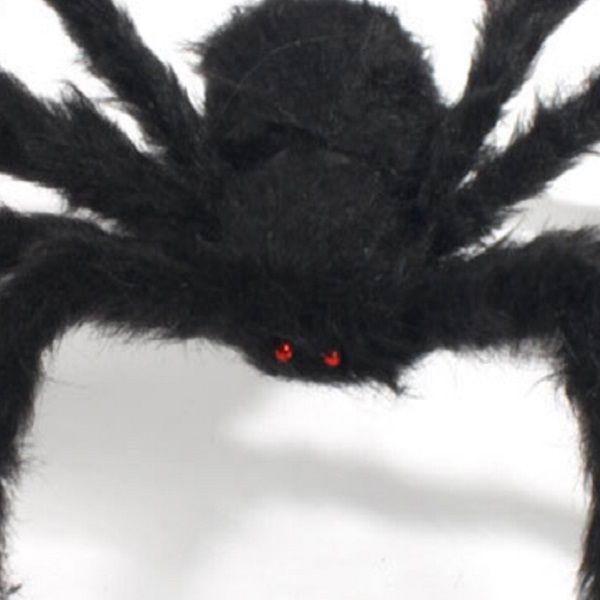 Decoração de Halloween Aranha Aranha Negra Decoração de Halloween Casa Assombrada Prop Interior Ao Ar Livre Preto Gigante 3 Tamanho