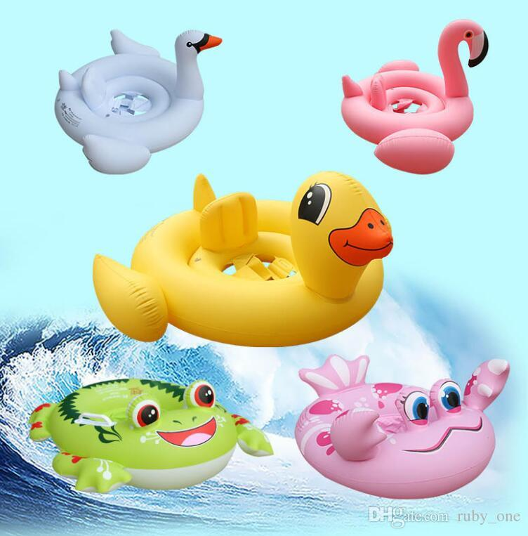 Online Cheap Baby Inflatable Flamingo Float Swan Frog Crab