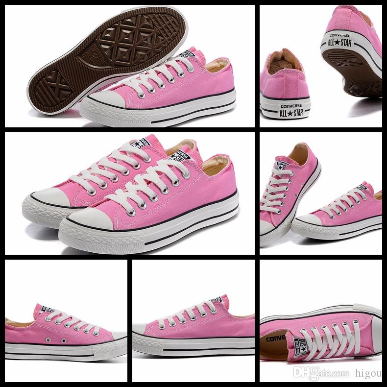 New Converse Chuck TayLor All Star Core Pink Shoes Low Top For Women  Fashion Casual Canvas Shoes Womens Converses Sneakers Classic Shoe Most  Comfortable ... 1907f5a57