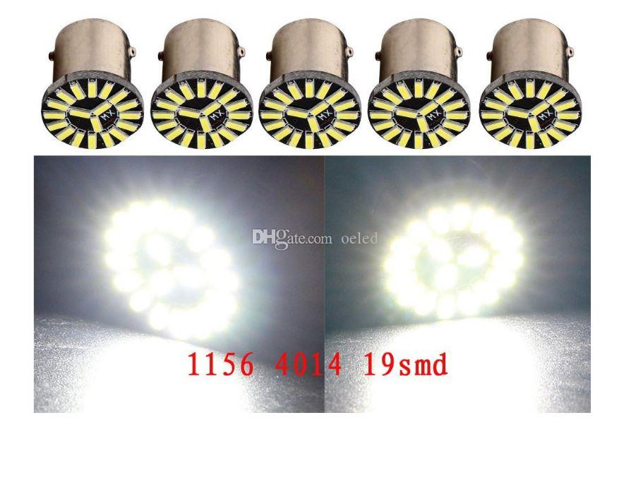 White Led 1156 1157 4014 Chip 19SMD Fog Light Auto Car Reverse Tail Singal Brake Bulb Lamps Turn Signal Light Lamp Bulb DC 12V
