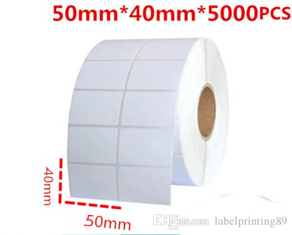 50*40mm /roll blank white office paper barcode self adhesive sticker label for printer logistic classify paper sticker