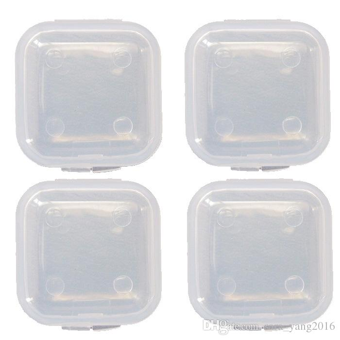 Plastic Portable Clear Transparent Cosmetic Boxes Medicine Pill Box Small Square Tablet Case Sundry Storage Holder wa3918