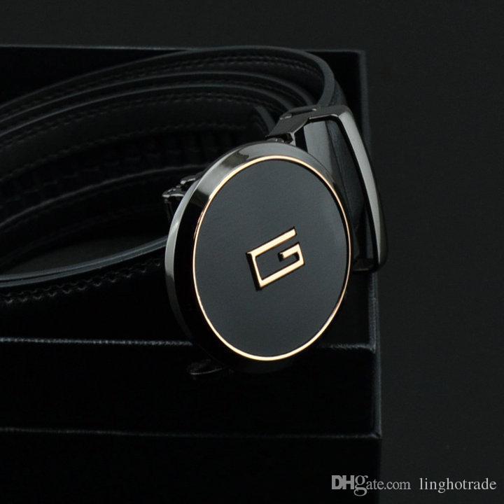 Brand new original leather designer Cintura grande fibbia da uomo di lusso Fibbia cintura top moda uomo Cinture di lusso in vera pelle