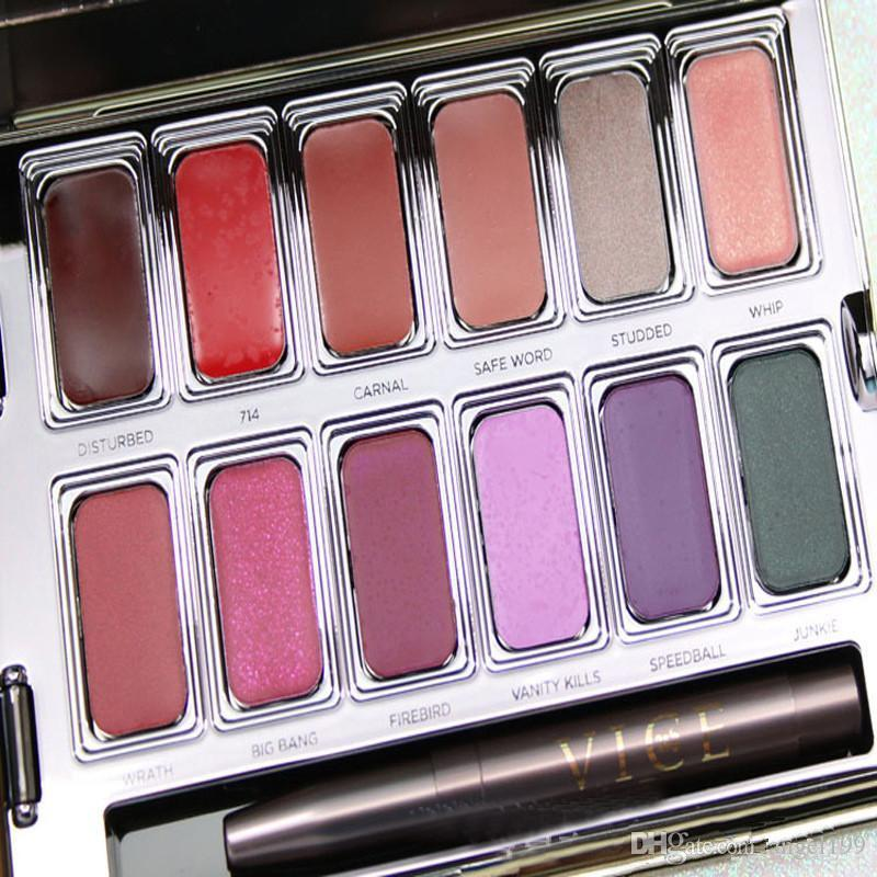2017 New HOT Lip Palette Blackmail Vice Lipstick Lip Gloss 12 SHADED LIP PALETTE Makeup Cosmetic DHL