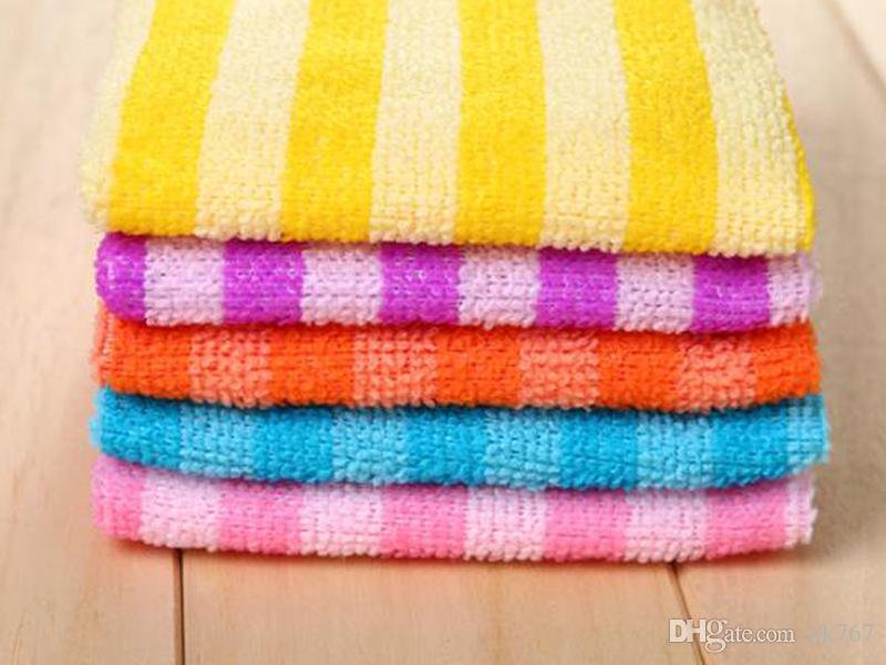 5 قطعة / الوحدة كفاءة عالية مكافحة لون الشحوم صحن القماش الألياف غسل منشفة ماجيك تنظيف المطبخ مسح الخرق بالجملة