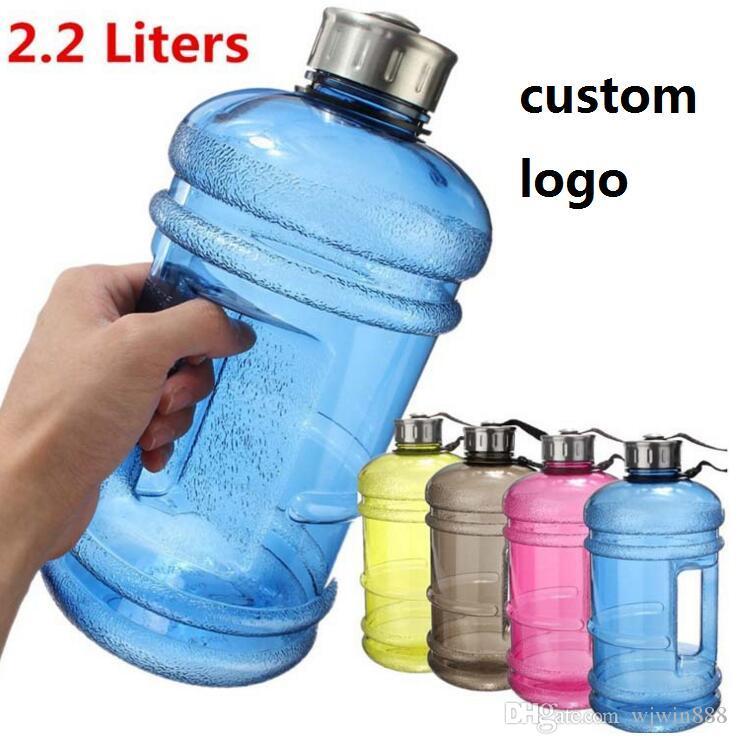 Custom Logo 2 2l Large Capacity Water Bottles Outdoor