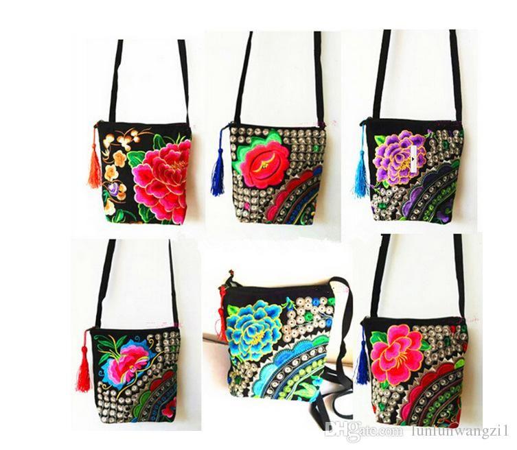Woman Handmade Embroidered Bags Vintage Women Shoulder Messenger