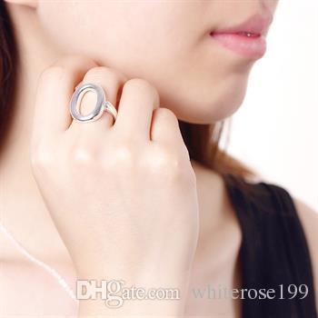 Venda por atacado - varejo menor preço de presente de Natal, frete grátis, novo anel de moda 925 prata yR009