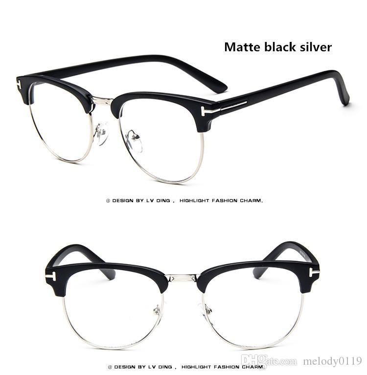 Vintage Clear Glasses Myopia Clear Frame Glasses Women Eyewear Men ...