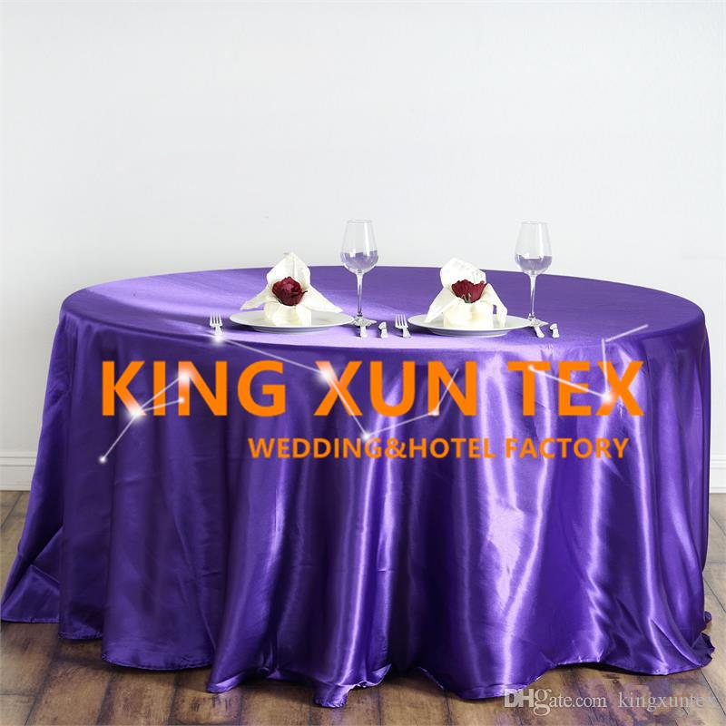 Hot Sale Satin Table Cloth \ Cheap Wedding Tablecloth For Event Party Decoration Free To Door Shipping