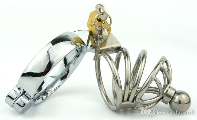 Новый мужской целомудрие Кейдж уретральный катетер из нержавеющей стали Пояс Целомудрия связывание фетиш SM секс-игрушки Art Кейдж устройства
