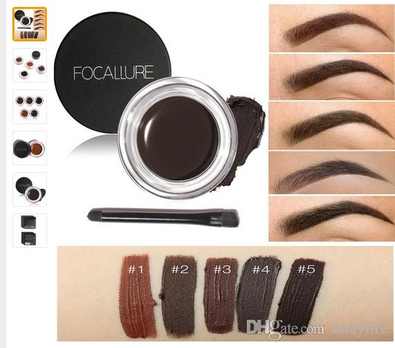 1849a73ec Compre Marca Focallure es Mejoradores De Pomada De Cejas Gel Impermeable  Maquiagem Accesorios De Maquillaje Ceja De Ojos Eye Liner Gel De Larga  Duración + ...