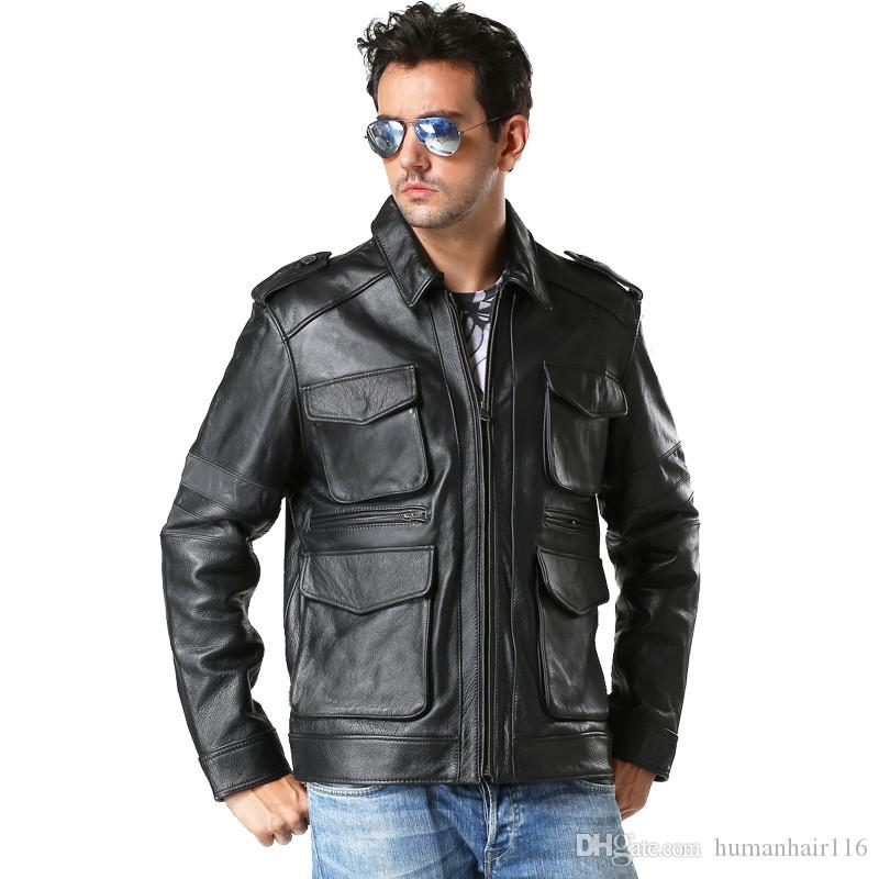 Mens Leather M65 Field Jacket - Cairoamani.com