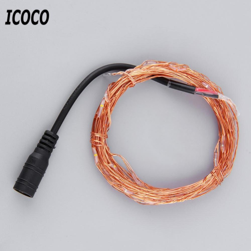 Wholesale Icoco 5m 50 Led Copper Wire String Light String Fairy ...