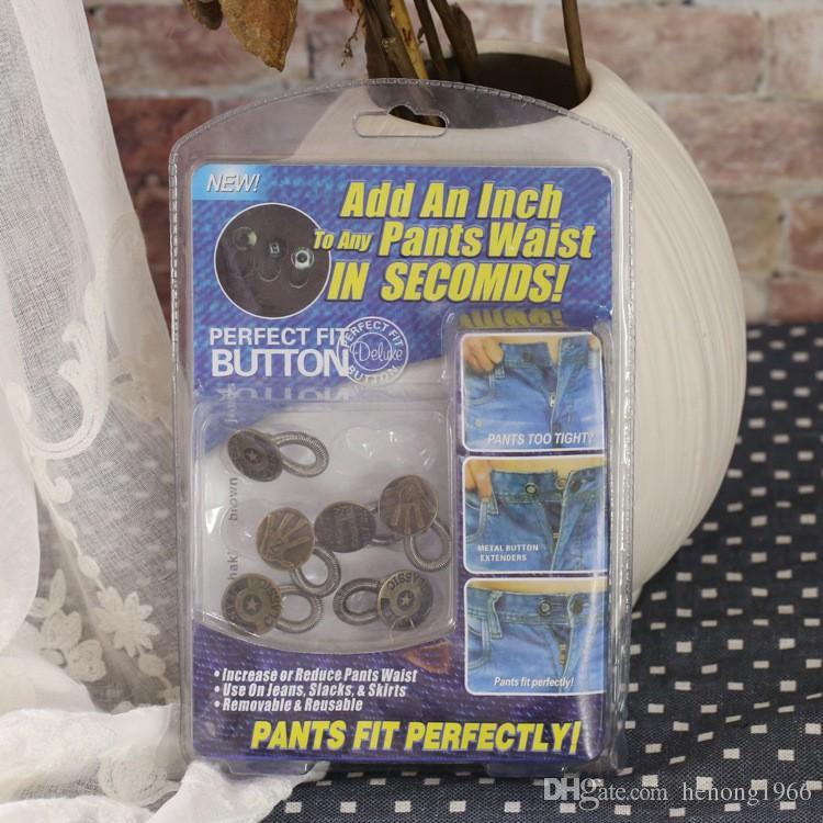 Bouton d'ajustement parfait Vêtements de travail Boutons de printemps Ajouter un pouce à tous les pantalons Taille à utiliser