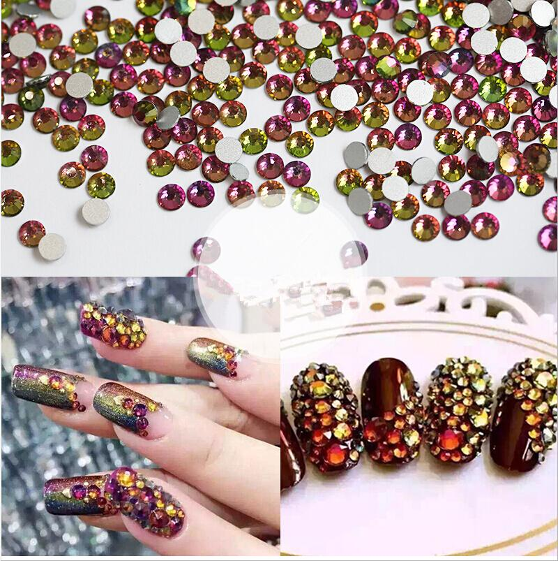 Wholesale- Best Rhinestones Ss3-ss30 Crystal Rainbow Decorations for 3d  Nail Art 4d554a15bcb5