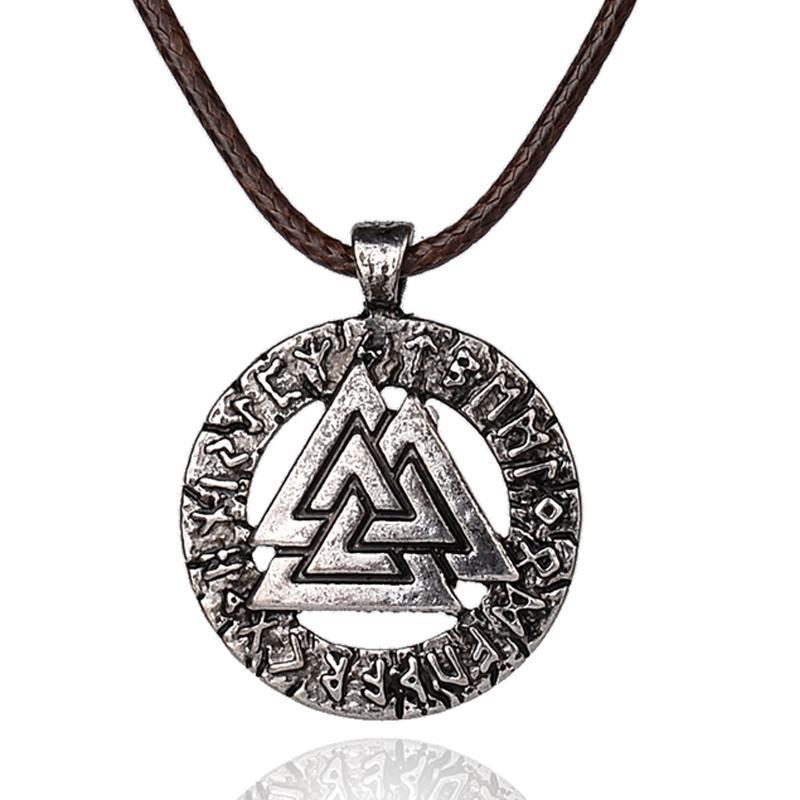 Wholesale Wholesale Slavic Norway Valknut Pagan Amulet Pendant Men
