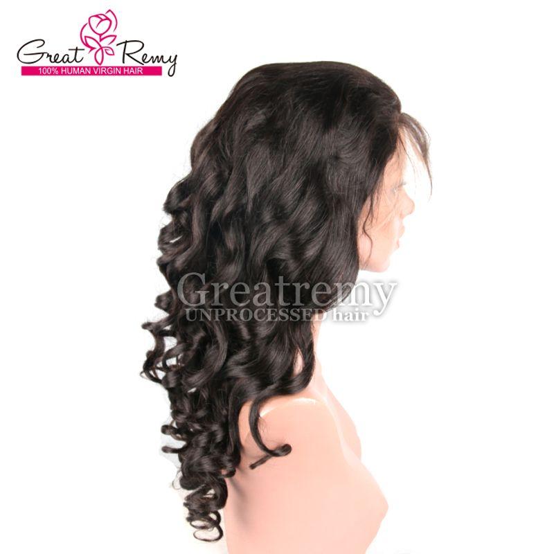 Greatremy® Brasiliansk Virgin Human Hair Lace Front Wig Naturlig Färglös Kroppsvåg Mänskliga Lace Parykar Hårprodukter Snabb leverans
