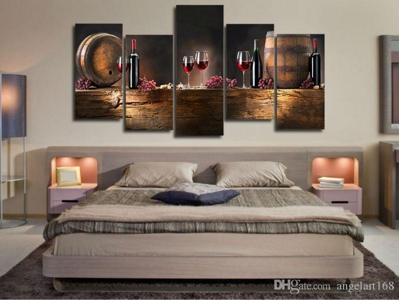 paintings for living room wall2017 Large Hd Printed Canvas Print Painting Casks Wine Home