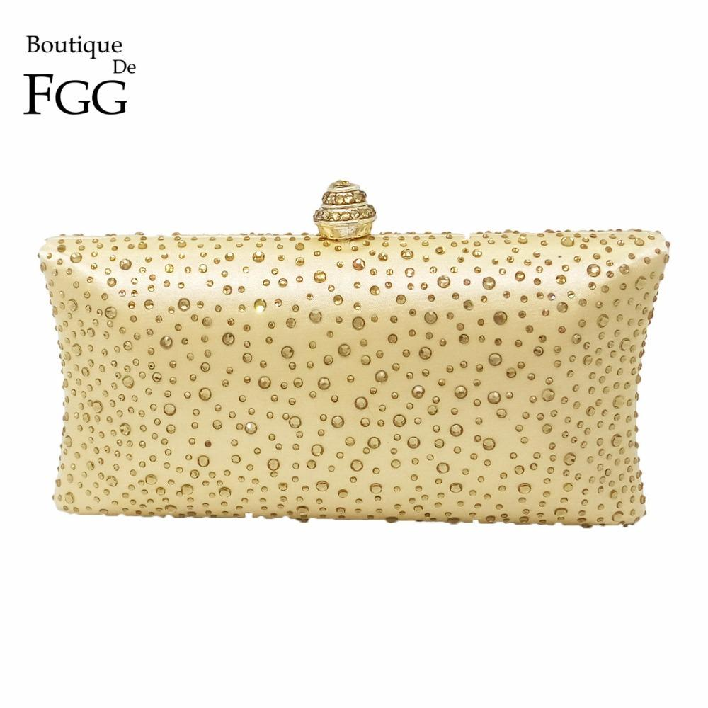 668406e4cf57 Wholesale-Dazzling Women s Fashion Hot Fixed Diamond Crystal Gold Evening  Clutches Box Clutch Handbags Wedding Party Metal Shoulder Bags