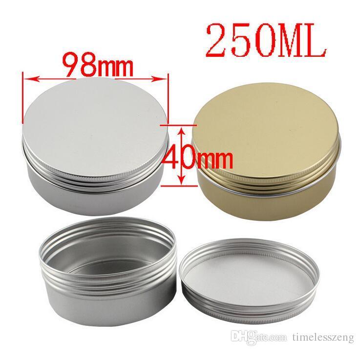 Different Size Empty Containers Aluminum Jar Tea Cans Aluminum Box Cases Makeup Empty Lip Gloss Jars Cosmetic Jars Box