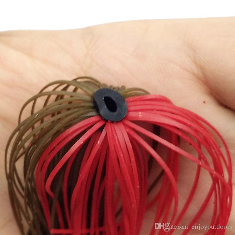 Mixed Color Fishing Rubber Jig Skirts 50 Strands Silicone Skirts Wire With Rubber Ring Fly Tying Rubber Material