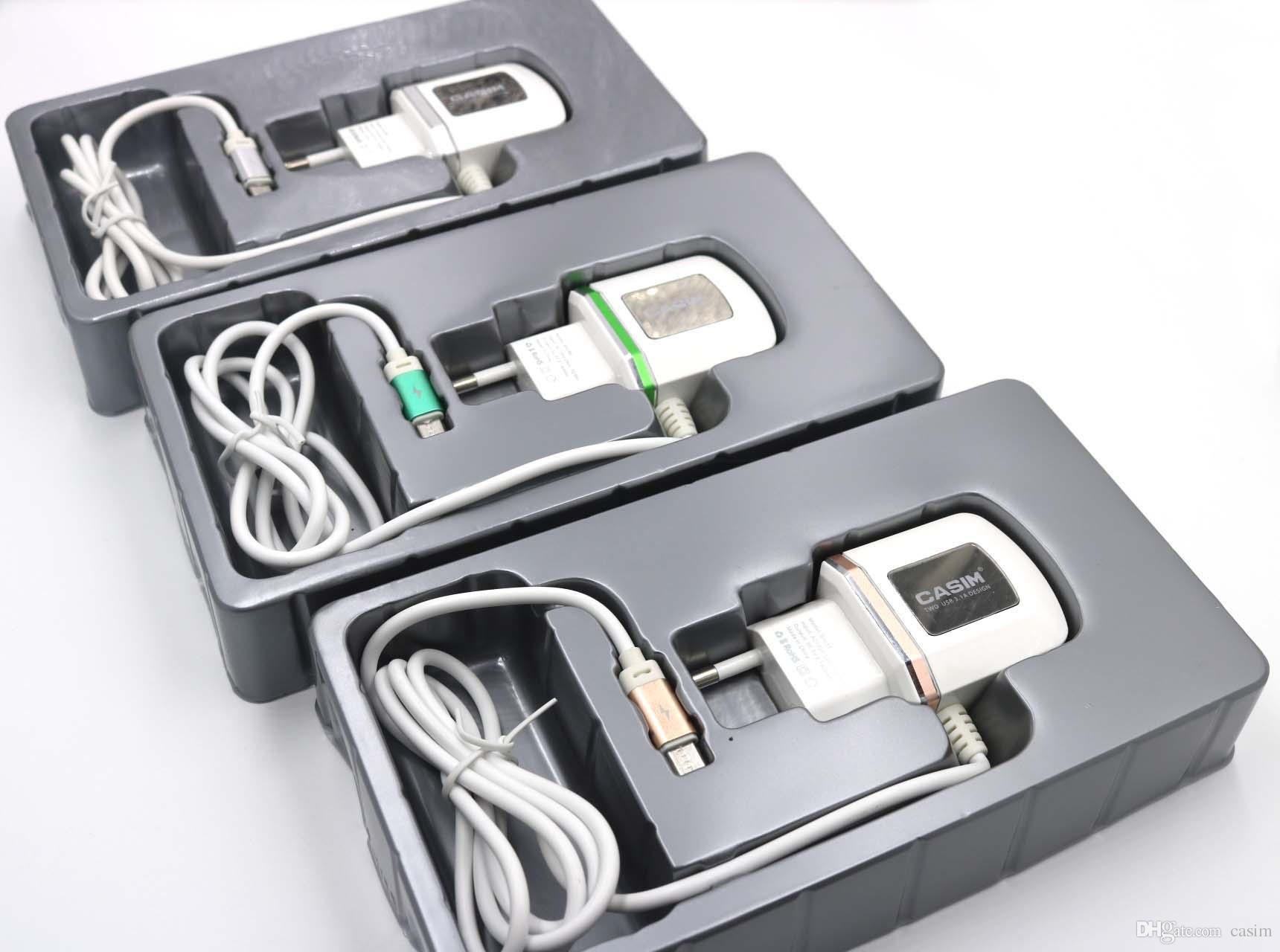 Casim 2 USB Hatları Ile LED Işık iphone Şarj Hızlı Şarj için Samsung telefon Uygulanabilir I5 i6 i7 i8 Cep Telefonu
