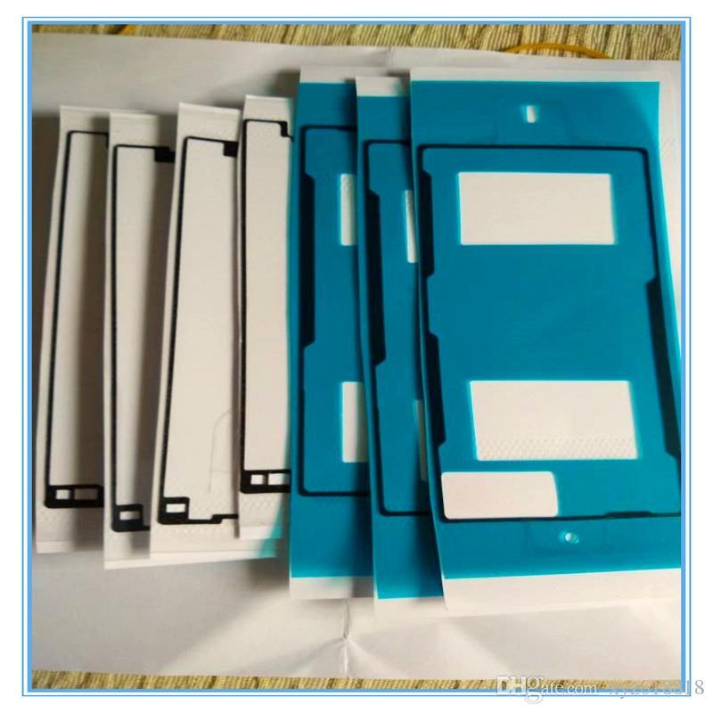 LCD Front Frame+Back Back Battery Dorr Cover Adhesive Glue Tape Stickers for Sony Z Z1 Z2 Z3 Z4 Z5 Z5 mini M2 M4 DHL