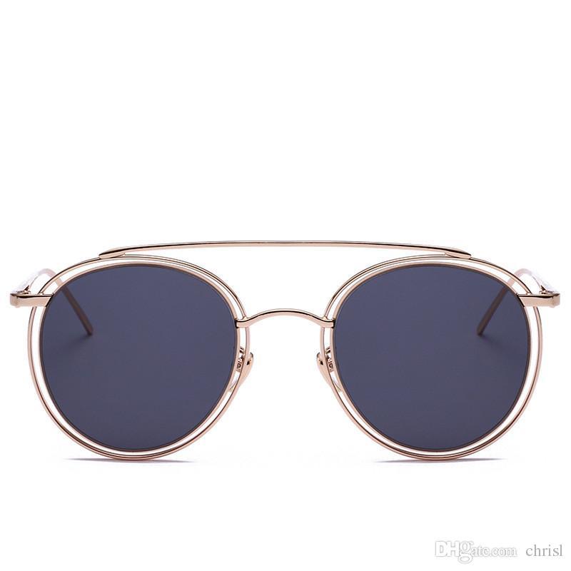 Acquista 2017 Vintage Occhiali Da Sole Rotondi Donne Hollow Gradient Femal  Designer Di Marca Sun Glaases Retro Oculos De Sol Feminino Gafas A  15.58  Dal ... 7ee572350e