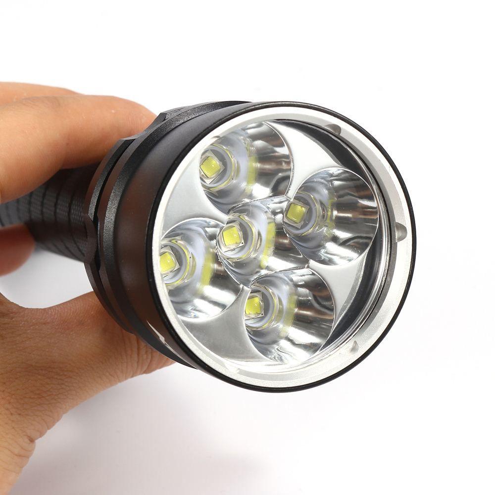 AloneFire DV34 Professional Diving Flashlight Torch 5x Dive XML L2 LED Underwater Diving linternas Waterproof Light Lamp